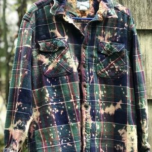 Tops - Hand distressed flannel